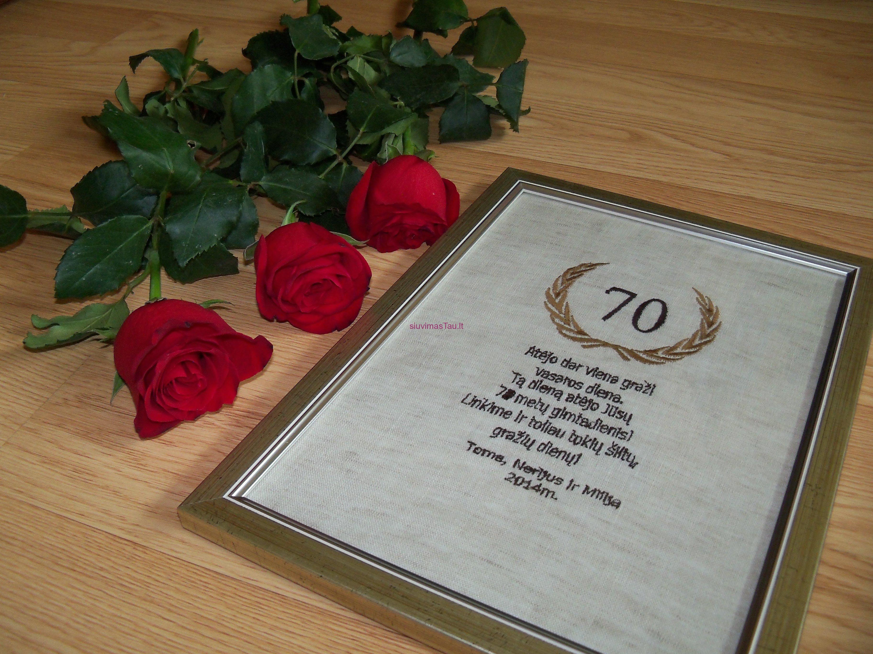 Gimtadienio sveikinimas 70metu